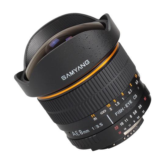 Новый рыбий глаз Samyang AE 8mm для Nikon